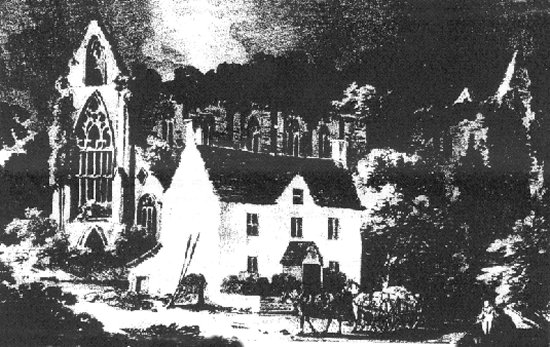 An 18th century view of Tintern Abbey